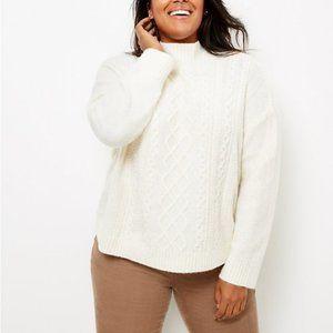 Loft Cable Front Sweater - 20/22 plus
